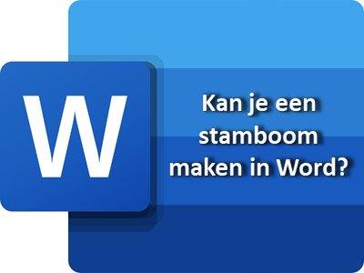 word stamboom